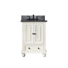 "Avanity THOMPSON-VS24-FW-A Thompson 25"" Vanity Combo in French White finish w/ Black Granite Top"