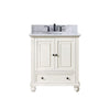 "Avanity THOMPSON-VS30-FW-C Thompson 31"" Vanity Combo in French White finish w/ Carrera White Top"