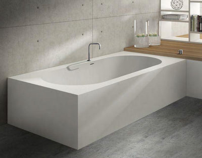 Blu Bathworks BT7100D-01M Blu Stone Designer Bathtub Series, White Matte