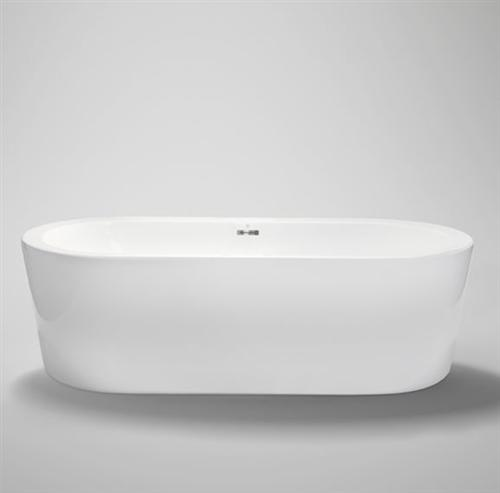"Blu Bathworks BT8004B16 Coco Freestanding 62"" Acrylic Bathtub Chrome Waste & Overflow"