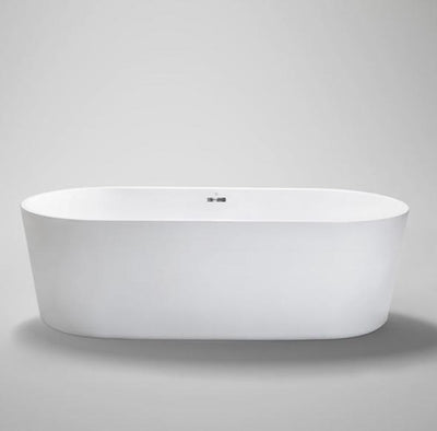 "Blu Bathworks BT8004B18 Coco Freestanding 70"" Acrylic Bathtub Chrome Waste & Overflow"