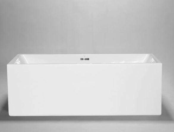 "Blu Bathworks BT8005 Box 2 Freestanding Or Alcove Acrylic Bathtub 67""X29""X23 1/4"""