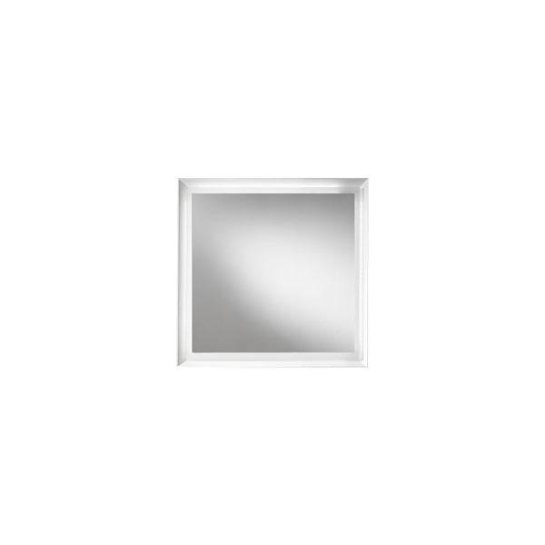 Blu Bathworks F45M1-0700-01M 45 Degree Collection Series 700 mirror w/ LED lighting - White Matte