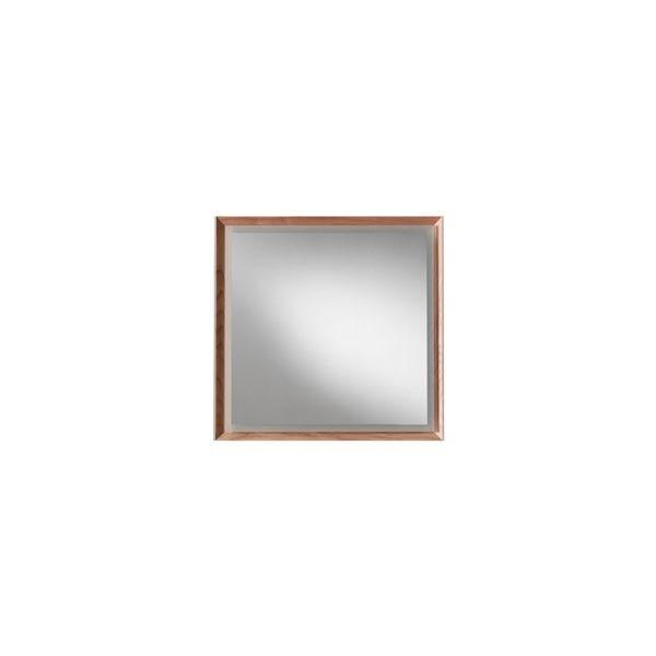 Blu Bathworks F45M1-0700-02 45 Degree Collection Series 700 mirror w/ LED lighting - Natural Oak