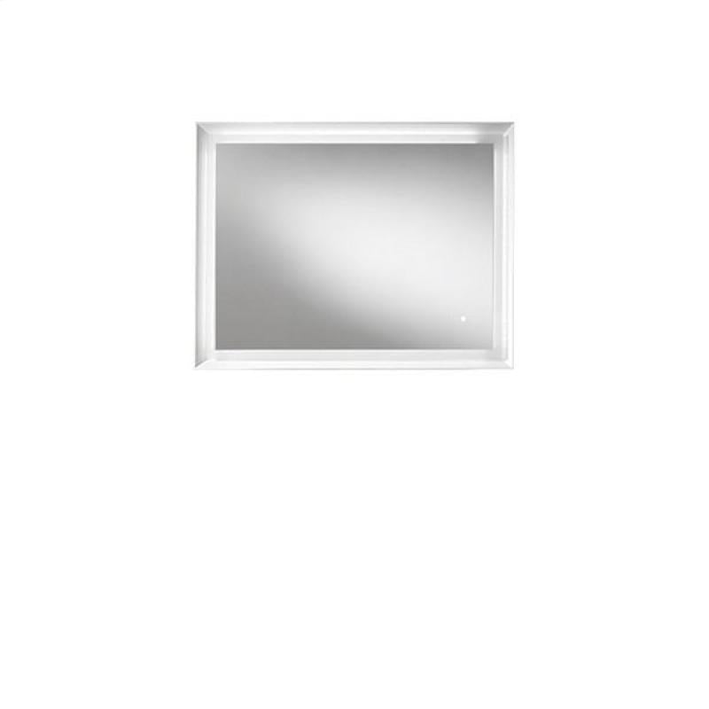Blu Bathworks F45M1-0900-01M 45 Degree Collection Series 900 mirror w/ LED lighting - White Matte