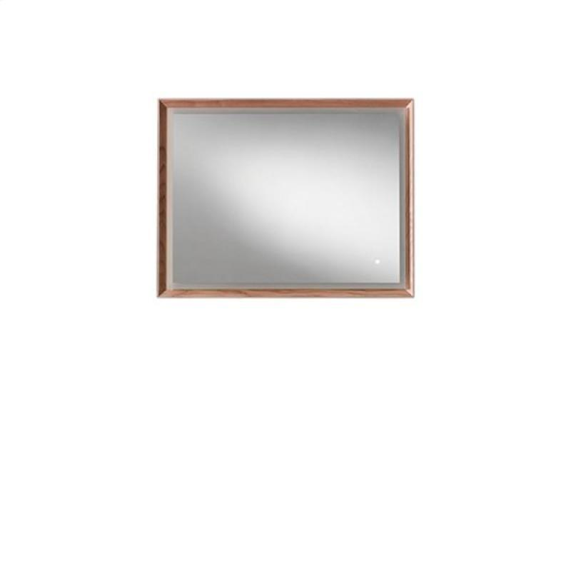Blu Bathworks F45M1-0900-02 45 Degree Collection Series 900 Mirror w/ LED lighting - Natural Oak