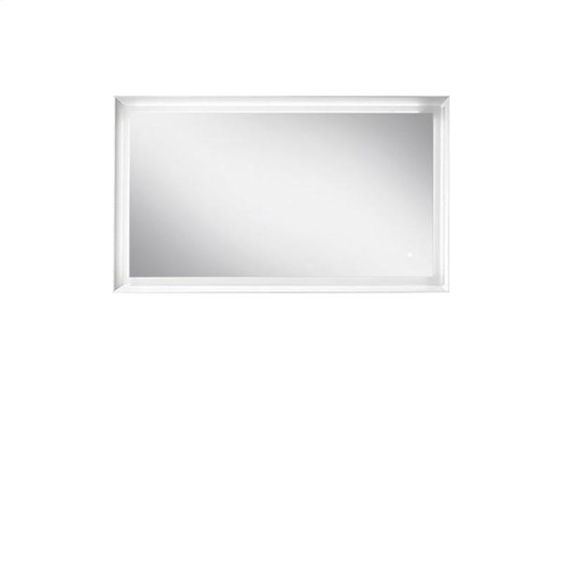 Blu Bathworks F45M1-1200-01M 45 Degree Collection Series 1200 Mirror w/ LED lighting - White Matte
