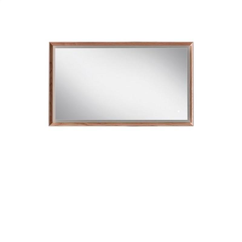 Blu Bathworks F45M1-1200-02 45 Degree Collection Series 1200 Mirror w/ LED lighting - Natural Oak
