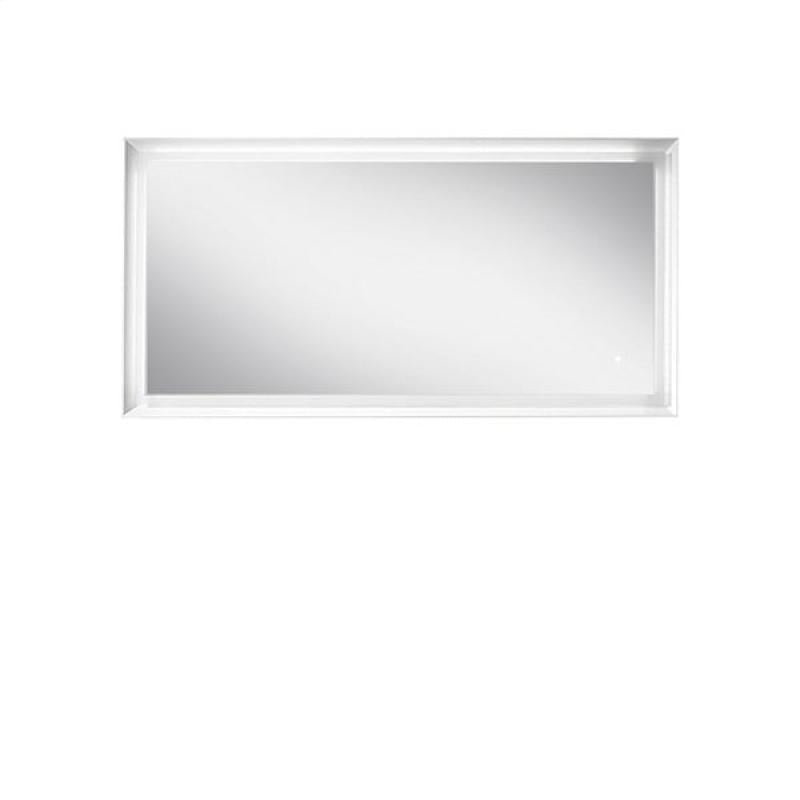 Blu Bathworks F45M1-1400-01M 45 Degree Collection Series 1400 Mirror w/ LED lighting - White Matte