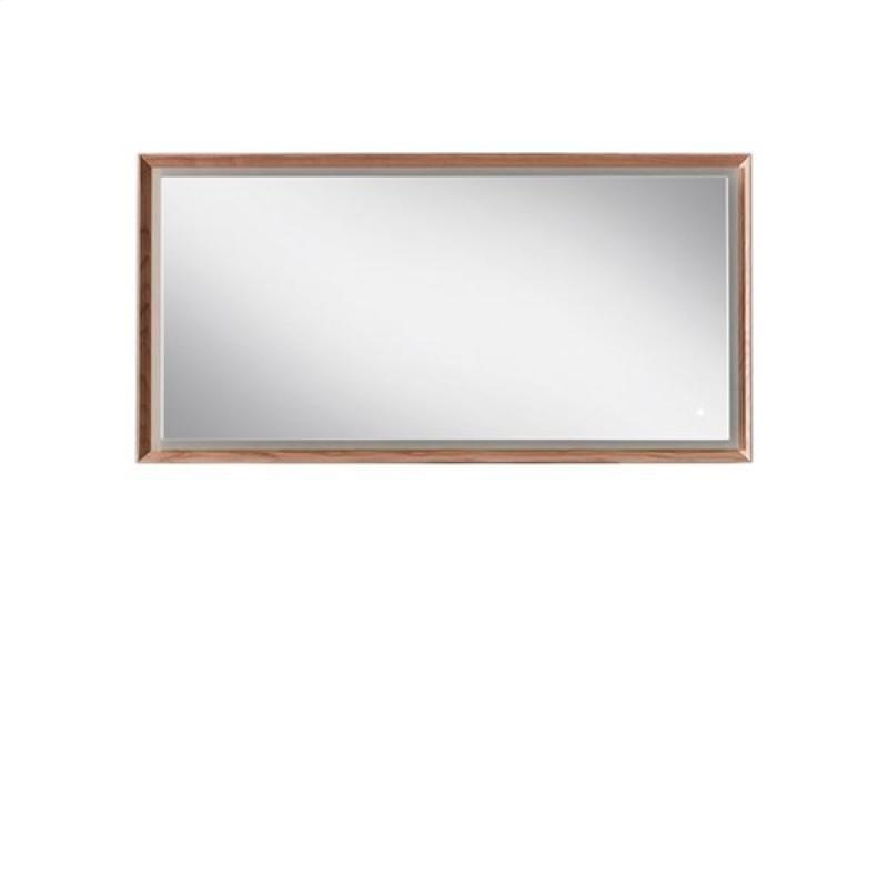 Blu Bathworks F45M1-1400-02 45 Degree Collection Series 1400 Mirror w/ LED lighting - Natural Oak