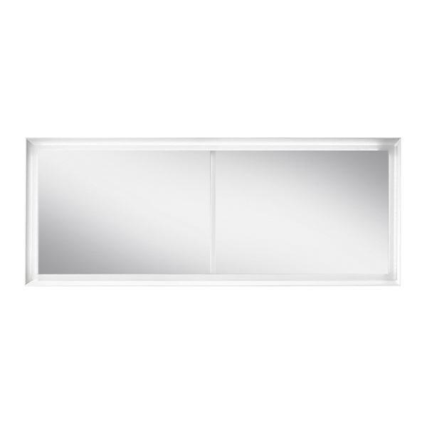 Blu Bathworks F45M1-1800-01M 45 Degree Collection Series 1800 Mirror w/ LED lighting - White Matte