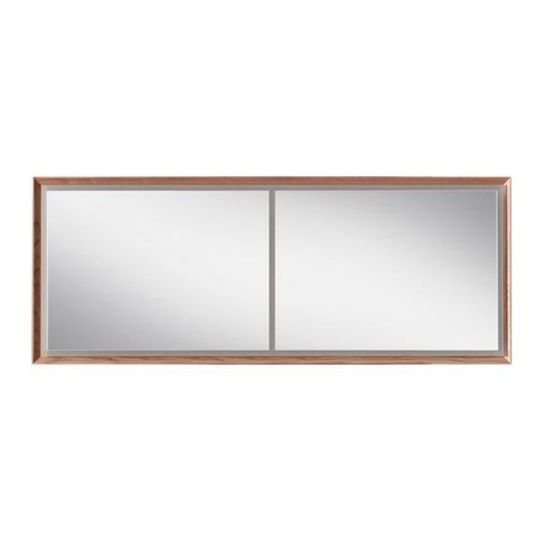 Blu Bathworks F45M1-1800-02 45 Degree Collection Series 1800 Mirror w/ LED lighting - Natural Oak