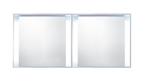 "Blu Bathworks F51M1-1400-01M 51 Collection Series 1400 Mirror W/Led Lighting, White Matte 55"" W X 25 1/4"" H X 5"" D"