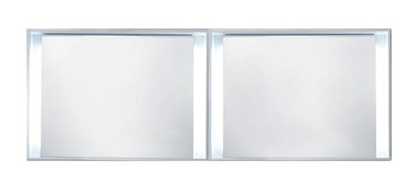 "Blu Bathworks F51M1-1800-01M 51 Collection Series 1800 Mirror W/Led Lighting, White Matte 71"" W X 25 1/4"" H X 5"" D"