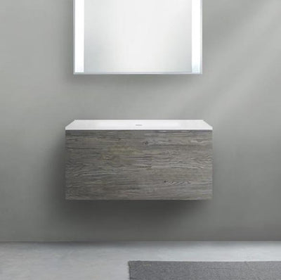 Blu Bathworks F51V1-0900 51 Collection Series 900 Wall-Mount Vanity - HST Seta