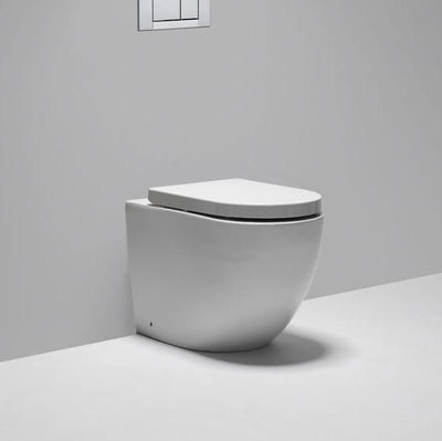 Blu Bathworks LW6010 Halo Dual Flush Wall Hung Toilet White (Requires Seat, Carrier System & Plate)