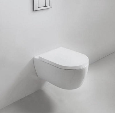 Blu Bathworks LW6020A Metrix dual-flush wall-mount rimless toilet