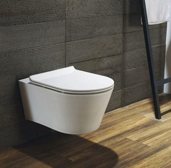 Blu Bathworks LW6030 Coco Wall-Mounted Dual Flush Toilet, White Finish