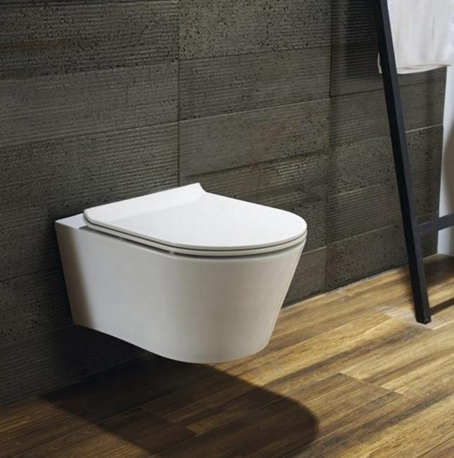 Blu Bathworks LW6030A Coco dual-flush wall-mount toilet