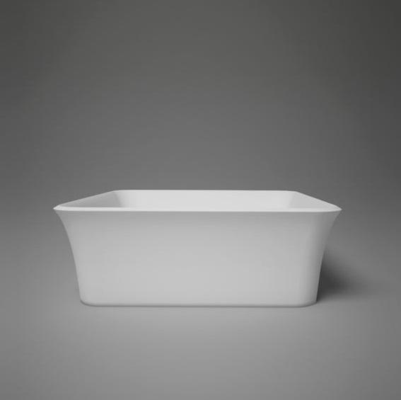"Blu Bathworks SA0209N38 Box 15"" Blu Stone Countertop Basin - White Gloss"