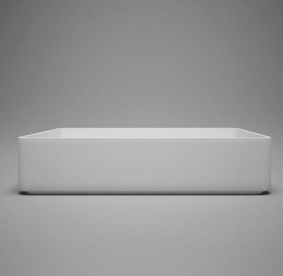 "Blu Bathworks SA0305N37 Metrix 22.75"" Blu Stone Countertop Basin - White Gloss"