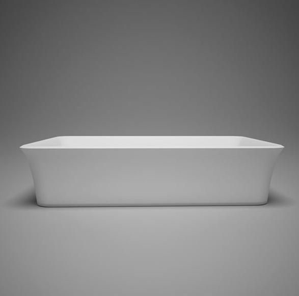 "Blu Bathworks SA0305N38 Metrix 22.75"" Blu Stone Countertop Basin - White Gloss"
