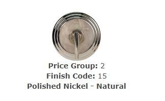 Brasstech 120/15 Large Basket Strainer Set Polished Nickel