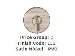 Brasstech 120/15S Large Basket Strainer Set Satin Nickel (PVD)