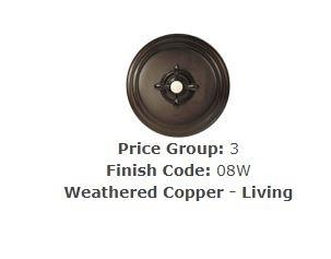 Brasstech 230-1/08W Shower Drain Grill Weathered Copper (Living)