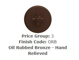 Brasstech 233/ORB Square Tile for Shower Drain Oil Rubbed Bronze - Hand Relieved