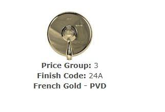 Brasstech 272/24A Tub Drain French Gold (PVD)