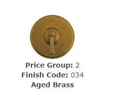"Brasstech 412X/034 Straight Valve, 1/2"" Compression Aged Brass"