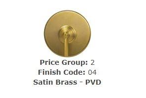 "Brasstech 412X/04 Straight Valve, 1/2"" Compression Satin Brass (PVD)"