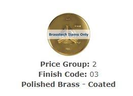 "Brasstech 413/03 Straight Valve, 1/2"" Compression Polished Brass Coated"