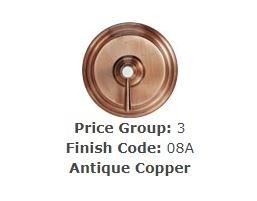 "Brasstech 413X/08A Straight Valve, 1/2"" Compression Antique Copper"