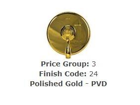 "Brasstech 413X/24 Straight Valve, 1/2"" Compression Polished Gold (PVD)"