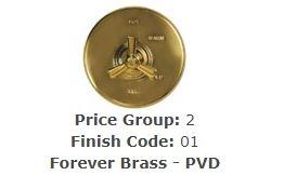 "Brasstech 417/01 Straight Valve Kit, 1/2"" Sweat Forever Brass (PVD)"