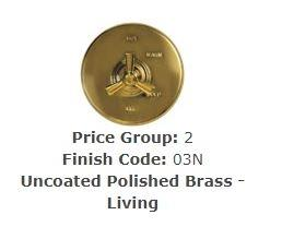 "Brasstech 417X/03N Straight Valve Kit, 1/2"" Sweat Polished Brass Uncoated (Living)"