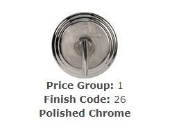 Brasstech 499/26 Lavatory Drain Polished Chrome