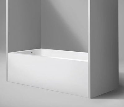 "Blu Bathworks BT0110L-01G Metrix 6 Blu Stone Alcove Bathtub, White Gloss 60"" X 32"" X 20 1/4""; Left Drain"