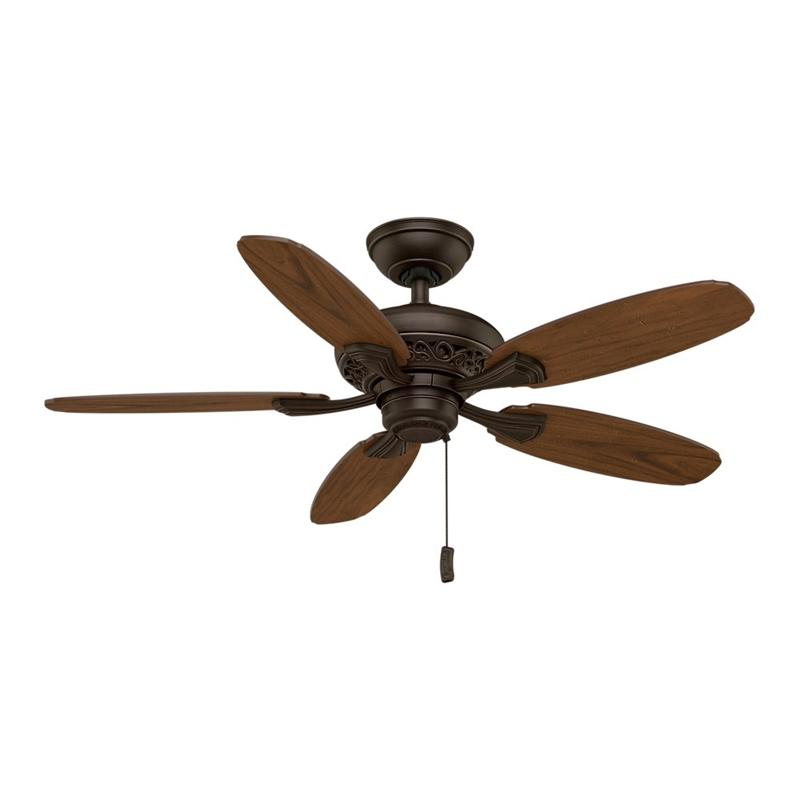 "Casablanca 53195 44"" Fordham Brushed Cocoa Ceiling Fan"