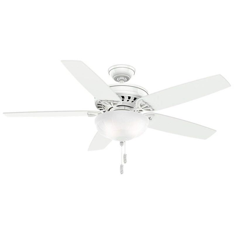 "Casablanca 54022 54"" Concentra Gallery Snow White Ceiling Fan with Light"