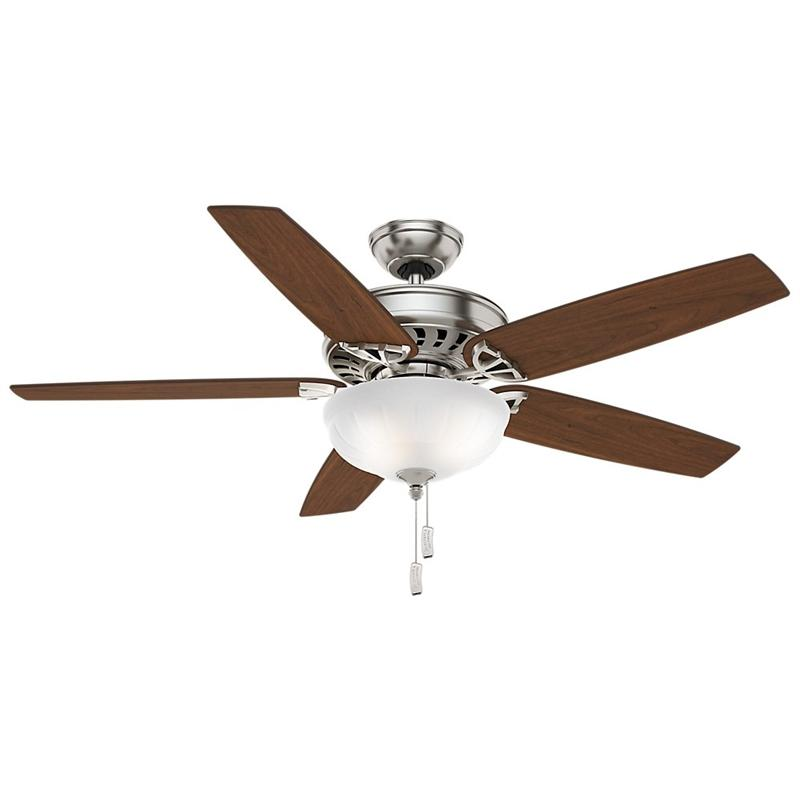 "Casablanca 54023 54"" Concentra Gallery Brushed Nickel Ceiling Fan with Light"