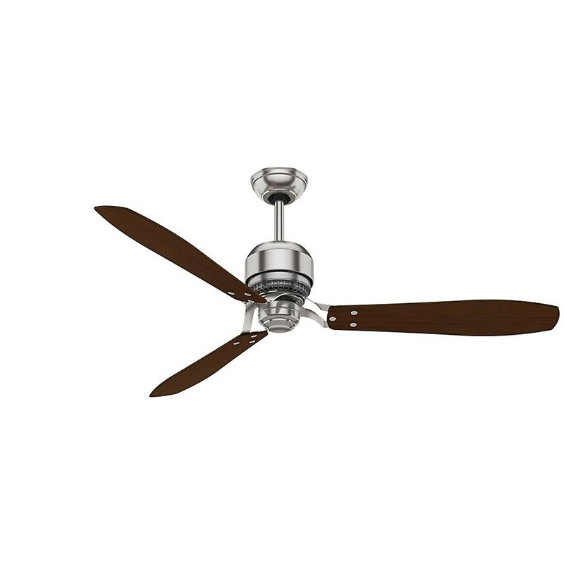 "Casablanca 59504 60"" Tribeca Great Room Brushed Nickel Ceiling Fan with Wall Control"