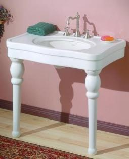 "Cheviot 710-WH-8 Astoria Console 8"" Drilling White"