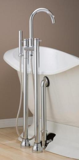 Cheviot 7565-PN Contemporary Free Standing Tub Filler with Hand Shower Polished Nickel