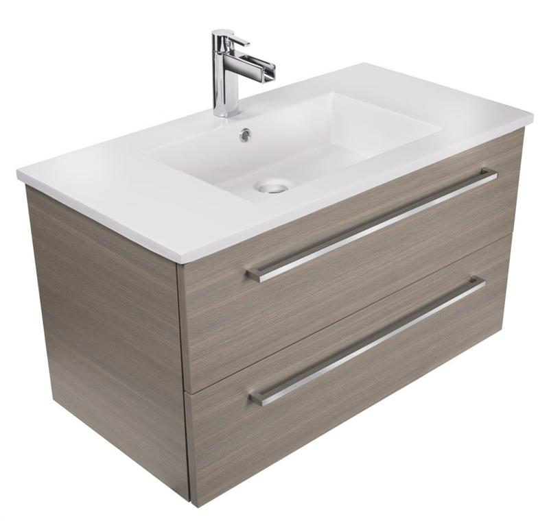 "Cutler FV ARIA30 Silhouette Collection 30"" Wall Mount Bathroom Vanity - 2 Drawers With Top, Aria"