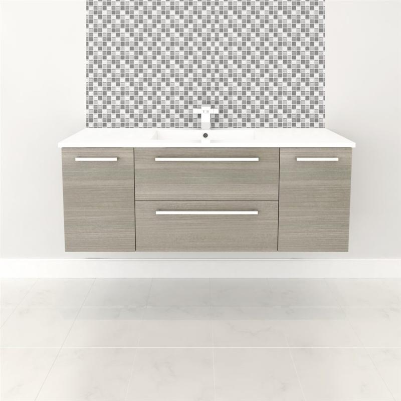 "Cutler FV ARIA48 Silhouette Collection 48"" Wall Mount Bathroom Vanity - 2 Doors, 2 Drawers With Top, Aria"