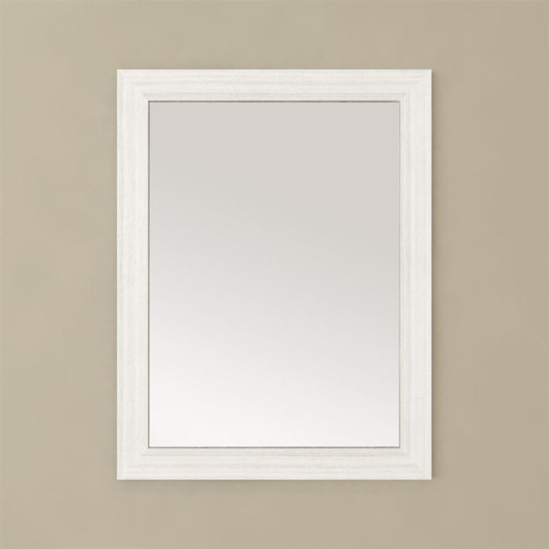 Cutler FV MIRROR 23X30 WCHOC Silhouette Collection Mirror - White Chocolate