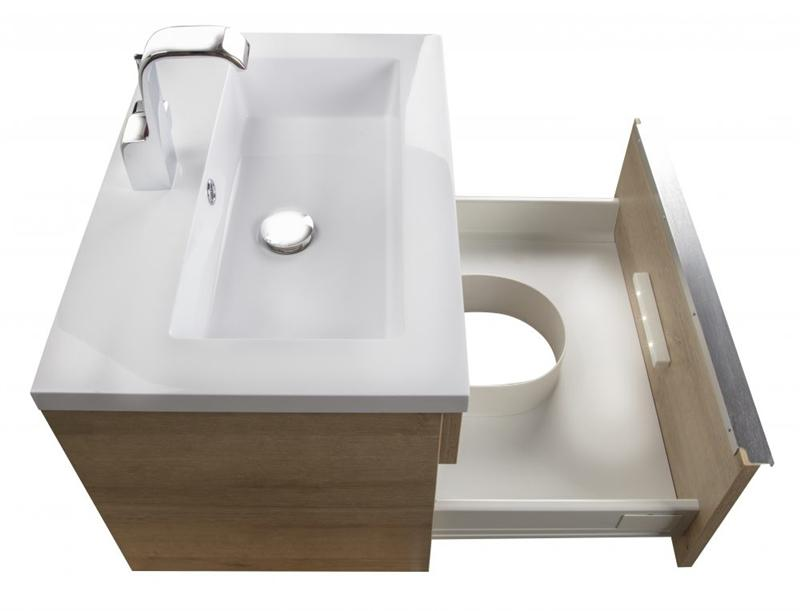 "Cutler FV TR ORGANIC24 Trough Collection 24"" Wall Mount Modern Bathroom Vanity - Organic"